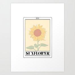 the sunflower tarot card Art Print