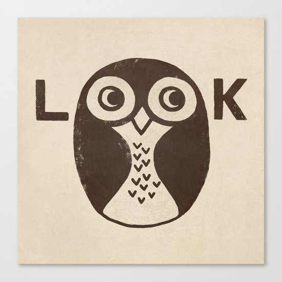 Look Canvas Print