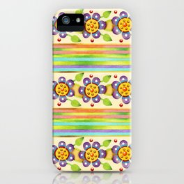 Parterre Botanique Floral iPhone Case