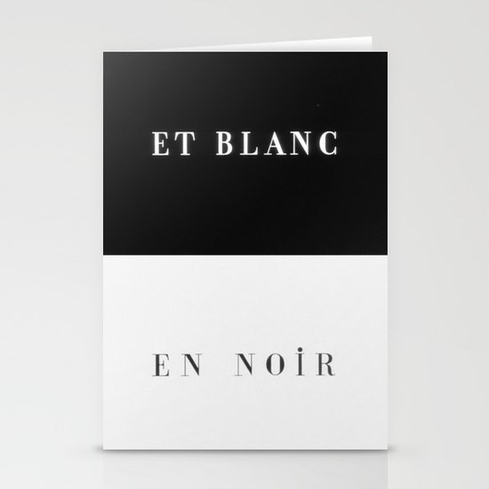 Et Blanc En Noir Stationery Cards