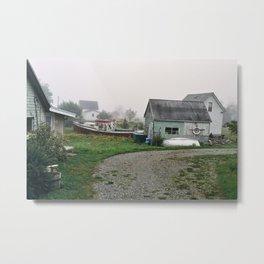 Yard on Grand Manan Island Metal Print