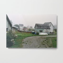 Yard on Grand Manan Island Metal Print