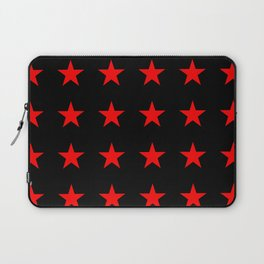 Red Stars on Black Laptop Sleeve