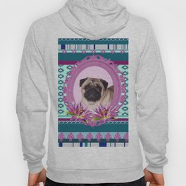 Frame Pug - Mops colorful Pattern Hoody