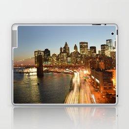 Manhattan Bridge - Long Exposure Laptop & iPad Skin