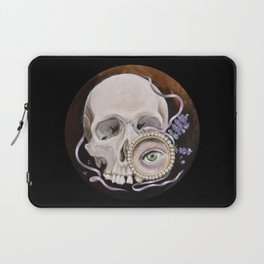 Stillife with skull, lavender and lovers eye Laptop Sleeve