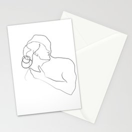 Lovers - Minimal Line Drawing 13 Stationery Cards