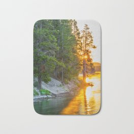 Yellowstone Sunrise Print Bath Mat