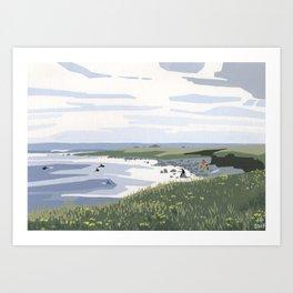 Clover surf Art Print