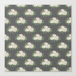 Antique White Roses Canvas Print