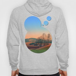 Trees, panorama and sunset   landscape photography Hoody
