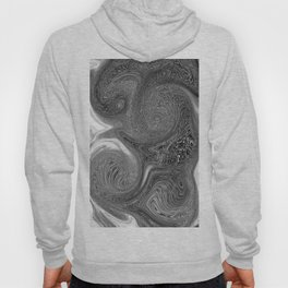 Monochrome swirl Hoody