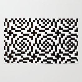 Geometric Black & White Rug