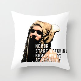 Braveheart at Midnight Throw Pillow