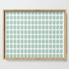 Mint Money Repeat Serving Tray