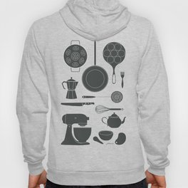 Kitchen Tools (black on white) Hoody