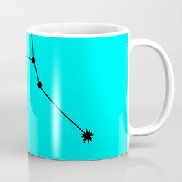 CANCER (BLACK-CYAN STAR SIGN) Coffee Mug