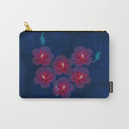 Pink halftone hibiscus Carry-All Pouch