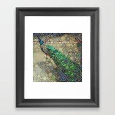 The Fancy Peacock! Framed Art Print