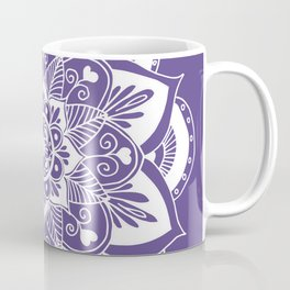 Ultraviolet Flower Mandala Coffee Mug