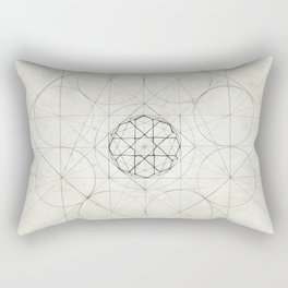 Geometry Sketch Four Rectangular Pillow