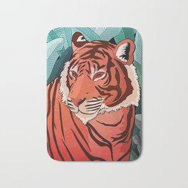 Tiger in the jungle Bath Mat