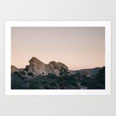 Sunset Over Desert Vasquez Rocks Art Print