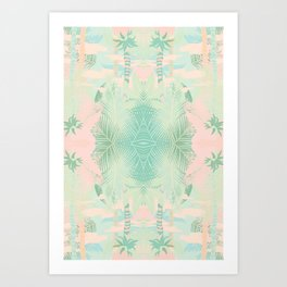 TROPICAL THEME Art Print