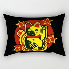 Maneki neko (Lucky cat) Rectangular Pillow
