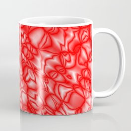 Chaotic red soap bubbles with a pattern of mirrored light borders. Coffee Mug