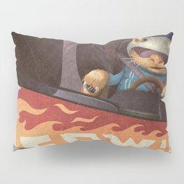 A-Z Animal, Cat Rally Driver - Illustration Pillow Sham