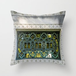 Detail of the Wainwright Tomb designed by Louis Sullivan Throw Pillow