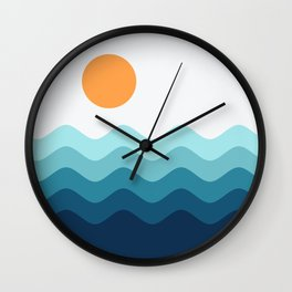 Abstract Landcape 14 Portrait Wall Clock