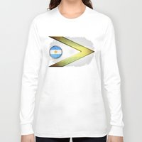 argentina Long Sleeve T-shirts featuring Argentina by ilustrarte