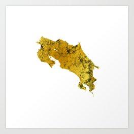 Costa Rica | Pura Vida | Gold Art Print