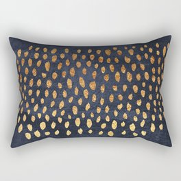 Pattern Play / Navy & Gold Rectangular Pillow