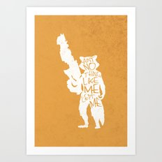 What's a Raccoon? Art Print