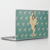 bambi Laptop & iPad Skins featuring Bambi by Shirley Hernandez