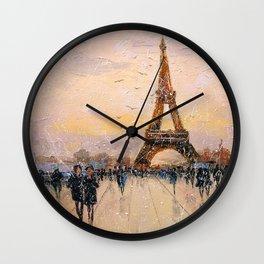 A walk in Paris Wall Clock