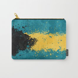 Bahamas Flag - Messy Action Painting Carry-All Pouch