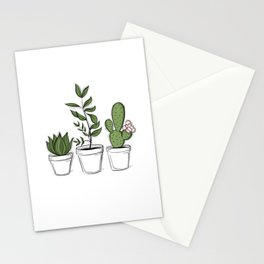 Three Little Succulents Stationery Cards