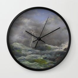 Storm Warnings Wall Clock