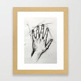 Hand Study Framed Art Print