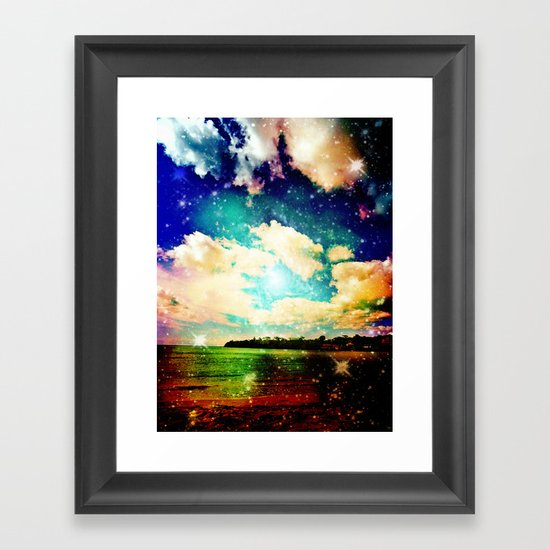 Far Out Beach Framed Art Print