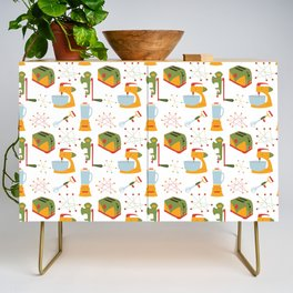 Retro Kitchen - Orange and Green Credenza