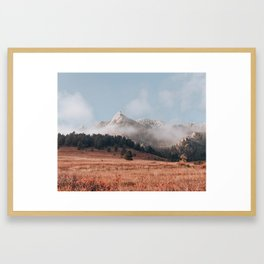 Magical misty morning at Chautauqua Park Framed Art Print