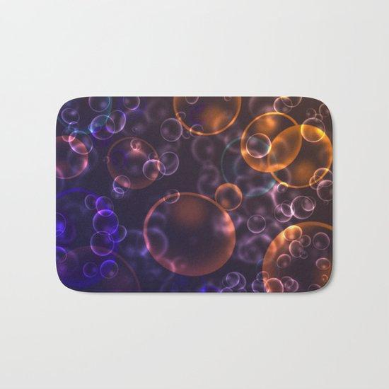 Mirages. Blurred background Lenses, bubbles Bath Mat