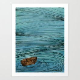 In the Midst of the storm Art Print