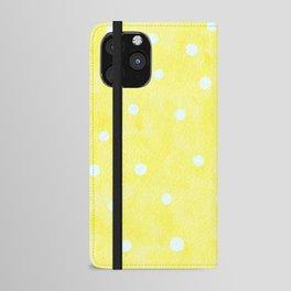 Vintage Happy Yellow Polka dots iPhone Wallet Case