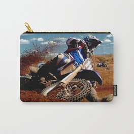 Motocross Dirt Track Motorcycle Racing Print Carry-All Pouch
